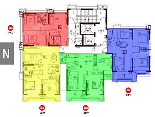 3号楼户型图B1-B4.jpg