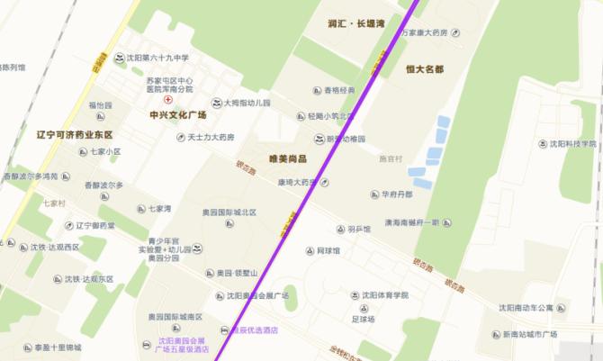南京南街沿线地图