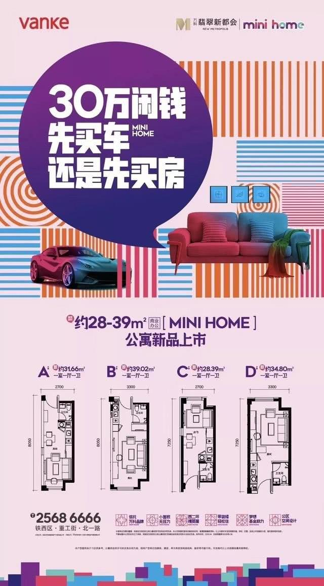 万科翡翠新都宣传海报
