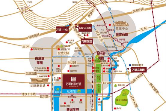 万锦红树湾项目交通规划图