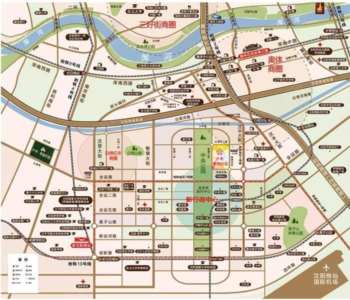 沈阳新市府板块图