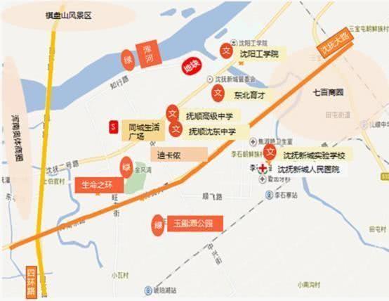 沈抚新区项目地图