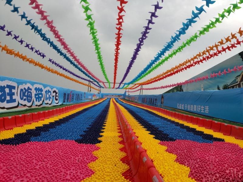 百米巨型超级彩虹滑梯