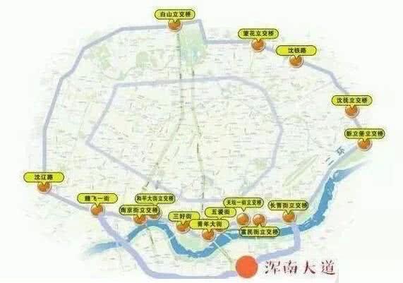 沈阳二环南移规划图
