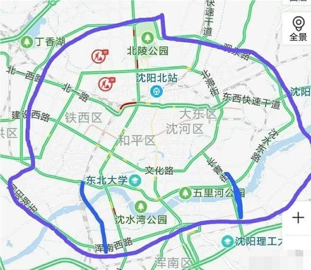 沈阳二环南移线路图