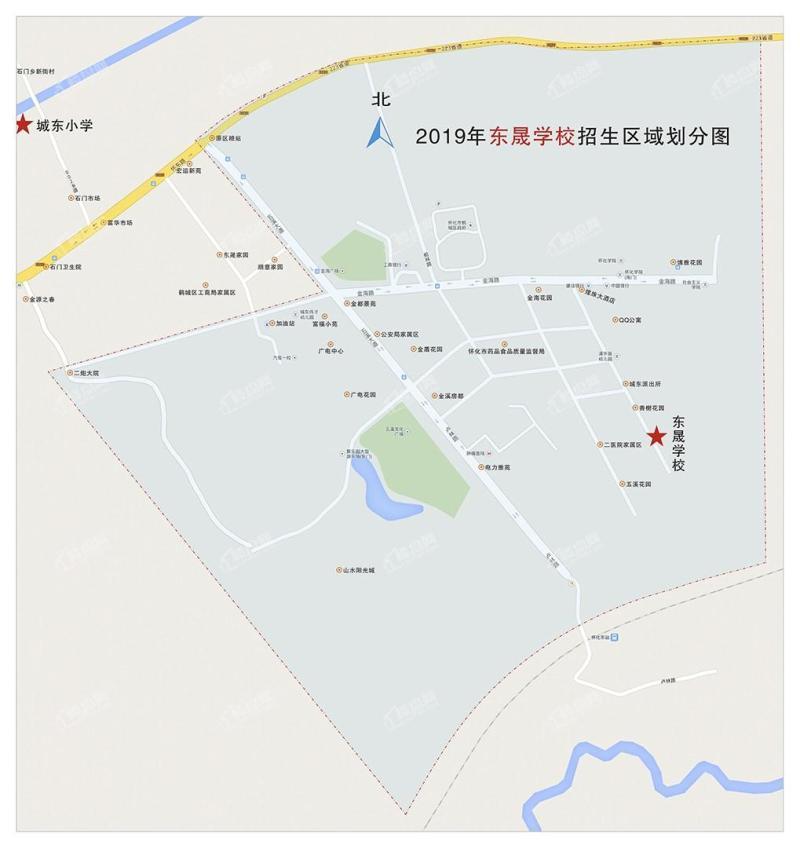 东晟学校就读区域