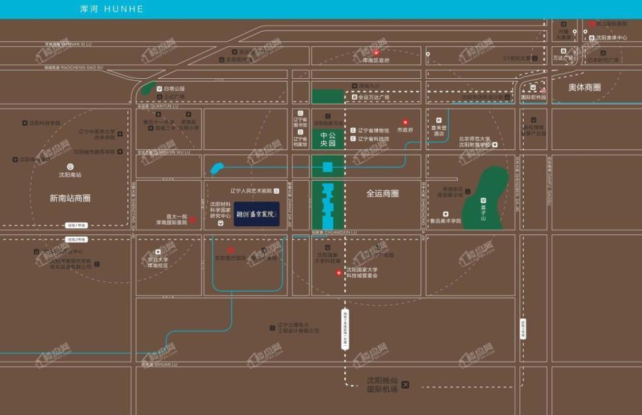 融创盛京宸院项目区位图