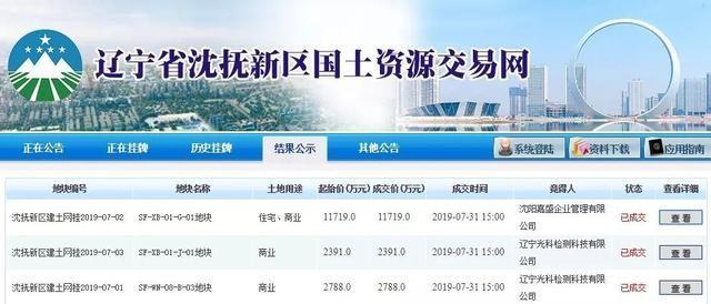 龙湖斩获沈抚新区住宅用地楼面价仅1800元 /㎡