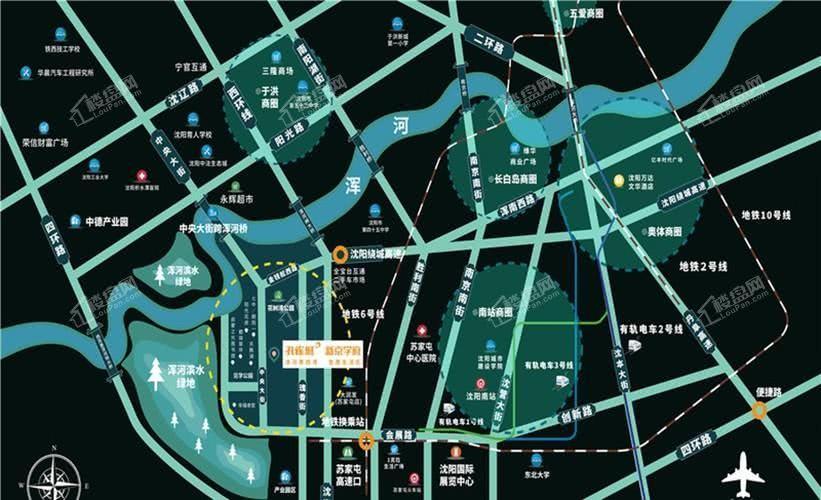 孔雀城新京学府鸟瞰图
