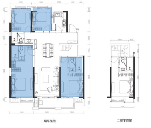 五房一厅的设计图纸