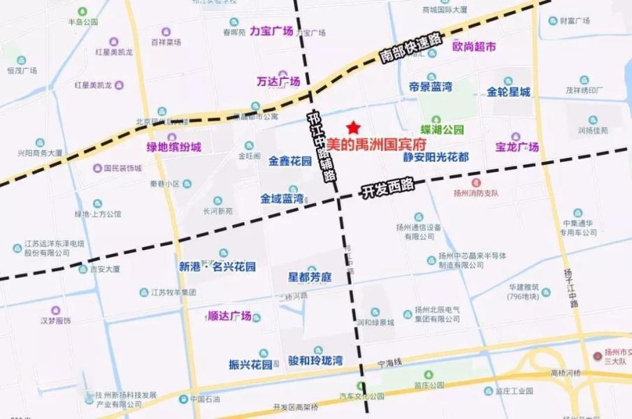 扬州美的禹州国宾府位置图