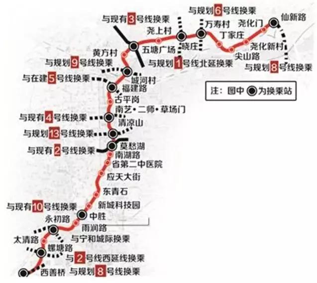 南京7号线规划路线图