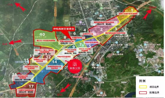 仲恺大道沿线城市更新图