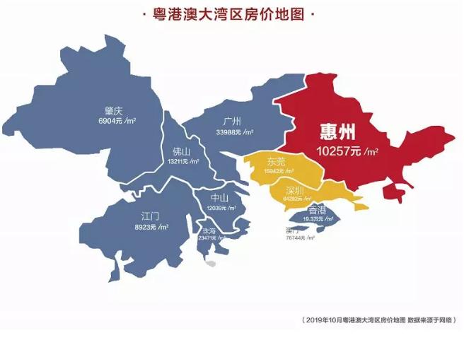粤港澳的房价地图